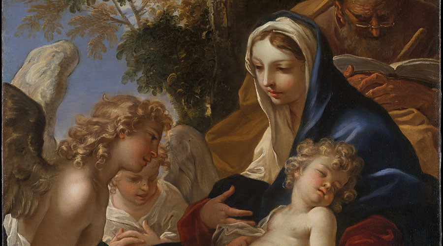 The Holy Family with Angels. Artist: Sebastiano Ricci. © metmuseum.org