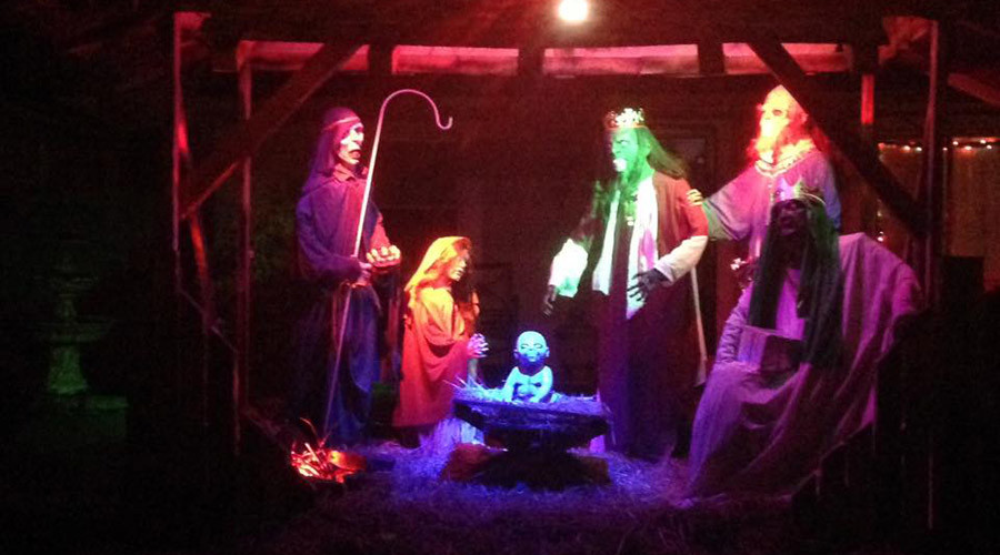 Zombie Nativity scene brings out Christian protesters in Ohio, $500 fine