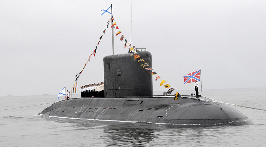 Russian submarine with cruise missiles off Syria coast - reports