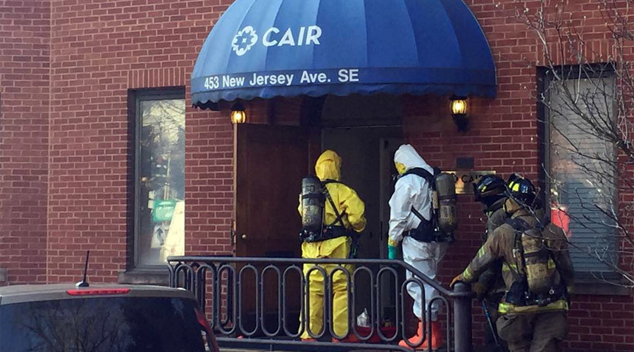 Muslim group CAIR's HQ evacuated after powdery substance found in envelope