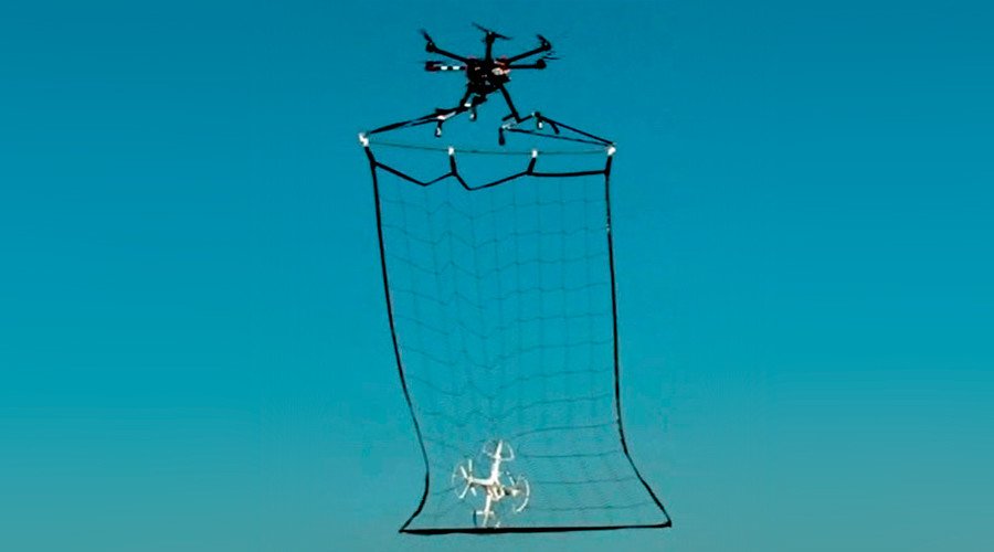 The Metropolitan Police Department's drone is equipped with a net to capture suspicious drones © Metropolitan Police Department Security Bureau