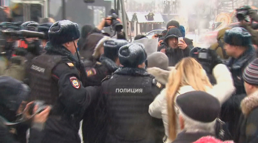Some 50 protesters detained in Moscow during unsanctioned rallies on Constitution Day