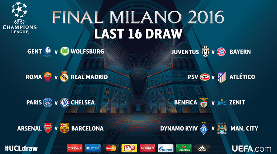 Champions League last 16 draw: Barcelona to face Arsenal, Chelsea get PSG again