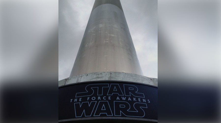 Dublin Spire becomes lightsaber for Star Wars premiere