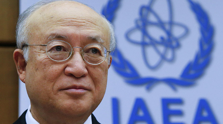 International Atomic Energy Agency (IAEA) Director General Yukiya Amano waits for the start of a board of governors meeting at the IAEA headquarters in Vienna, Austria, December 15, 2015. © Heinz-Peter Bader