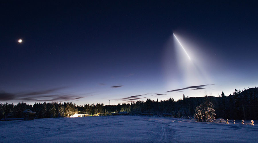 Meteor-like Soyuz rocket lights up sky over Siberia (PHOTOS, VIDEOS)