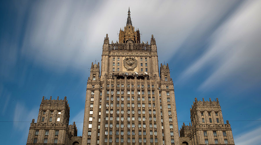 Building of the Russian Ministry of Foreign Affairs on Moscow's Smolenskaya-Sennaya Square. © Maksim Blinov