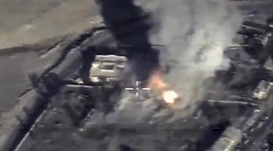 Russian Air Force strikes large ISIS base in Syria after opposition provides coordinates - MoD