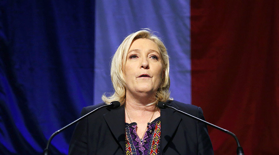 French National Front political party leader Marine Le Pen. © Yves Herman
