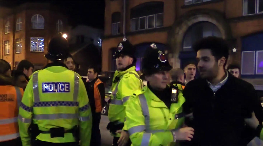 Violent mayhem: Boozy Brits celebrate 'Mad Friday'