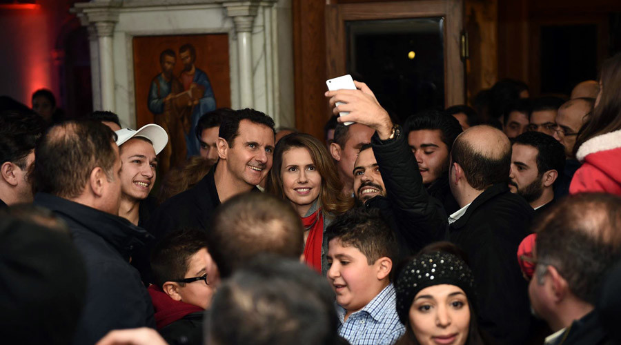 Image result for bashar assad christmas