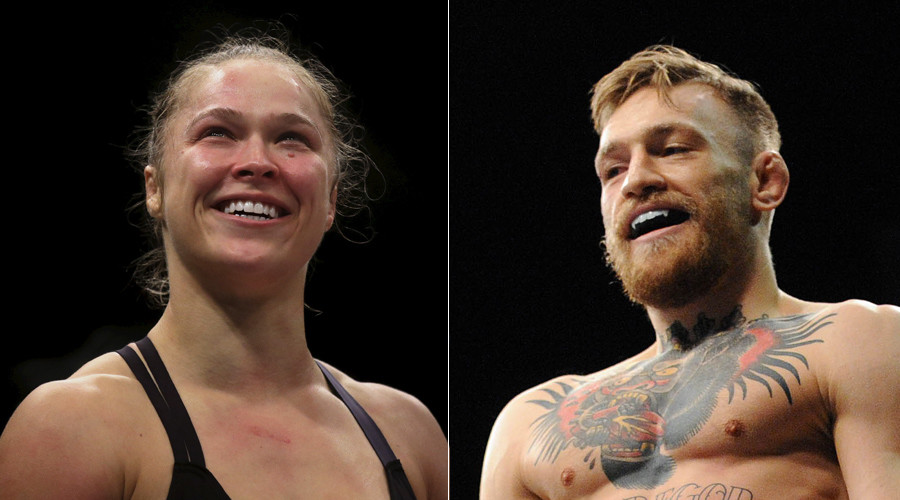 Ronda Rousey (R) and Conor McGregor © Stringer