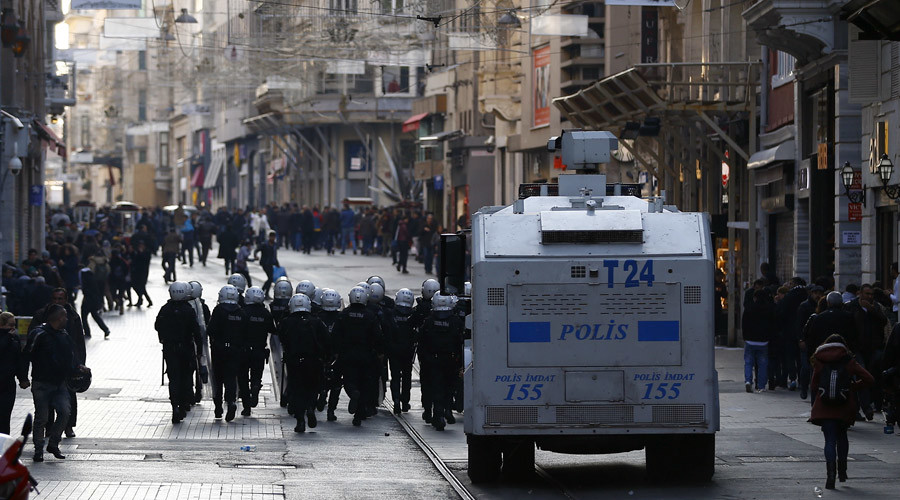 Istanbul police fire tear gas on protesters rallying over crackdown in Kurdish areas