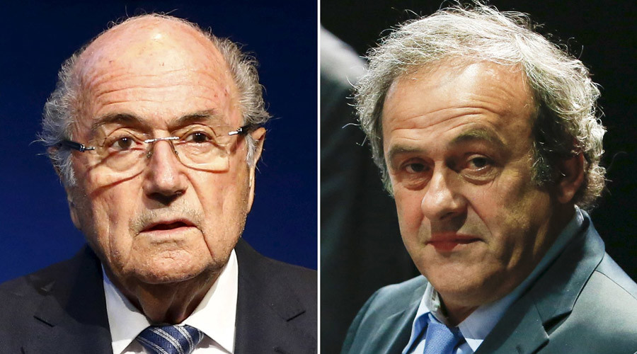 Combination file photograph of FIFA President Sepp Blatter and UEFA President Michel Platini (R). © Ruben Sprich
