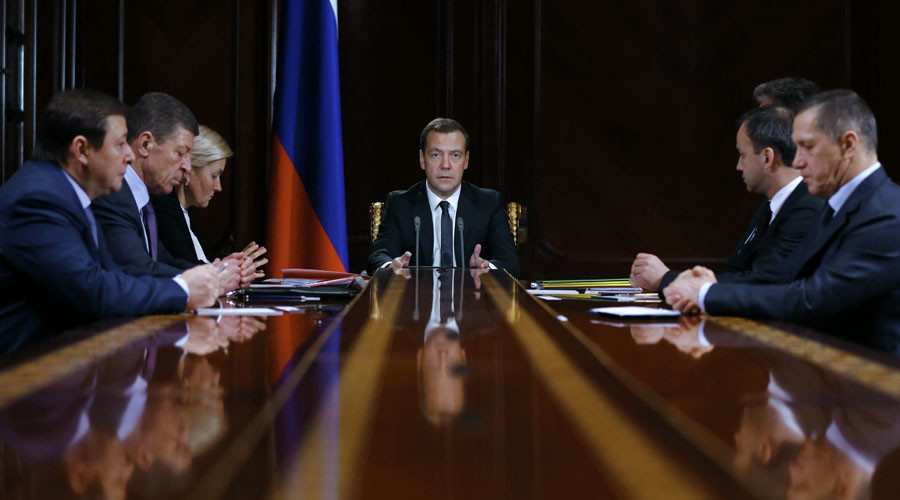 December 21, 2015. Russian Prime Minister Dmitry Medvedev meets with vice-premiers. © Dmitry Astakhov