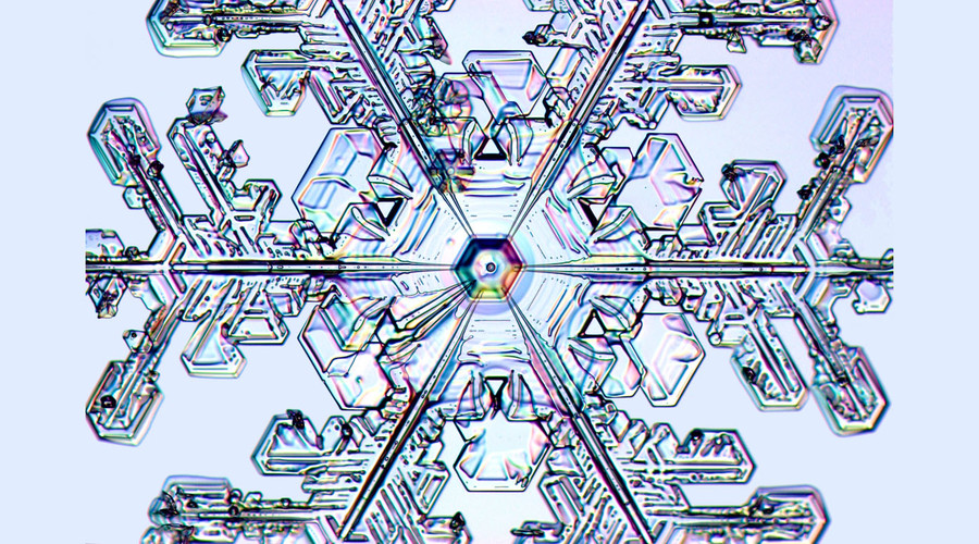 Stunning 'designer' snowflakes grown in a lab