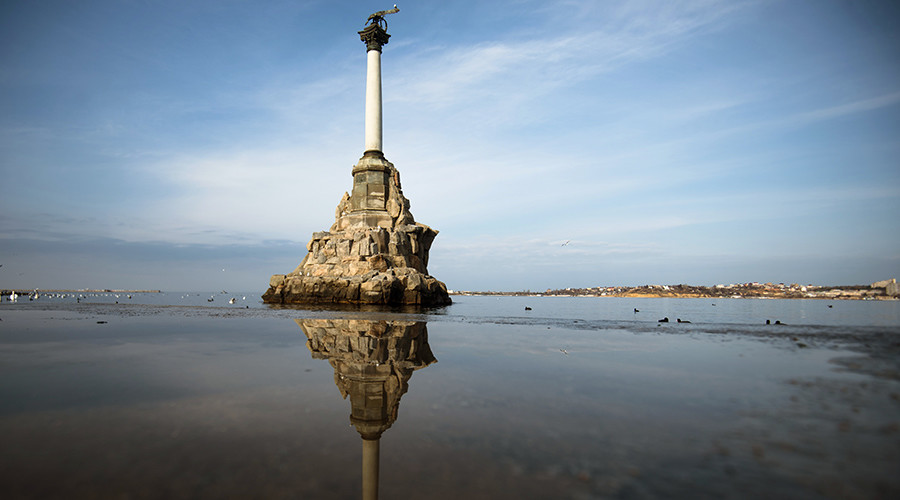 The Monument to Sunken Ships in Sevastopol © Vladimir Astapkovich