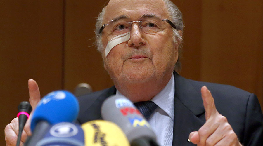 FIFA's suspended president Sepp Blatter. ©Arnd Wiegmann