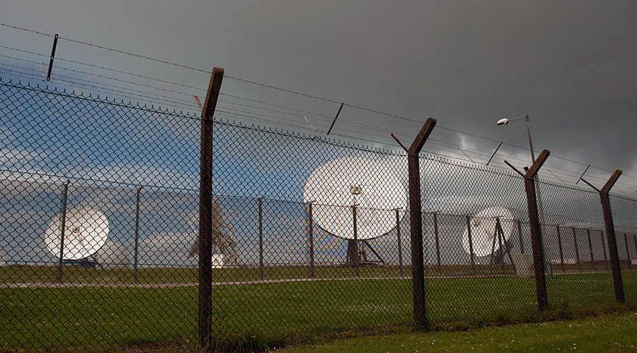 Satellite dishes are seen at GCHQ's outpost at Bude © Kieran Doherty