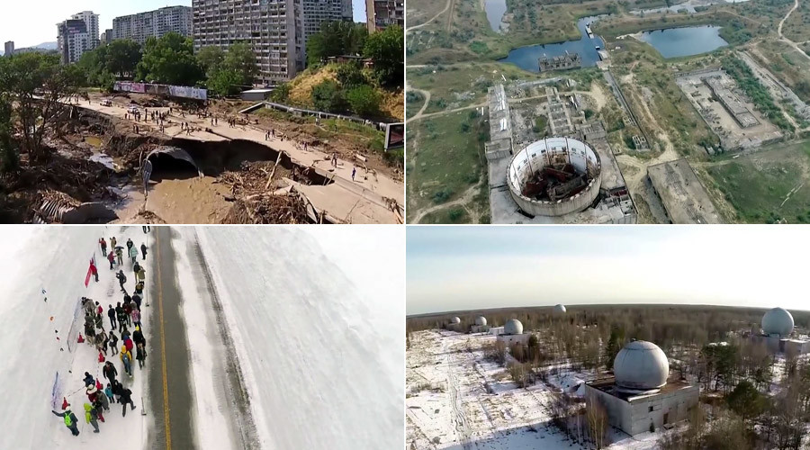 Nuclear facilities, Antarctica landscapes & monks atop wind turbines: 2015 as seen from drones