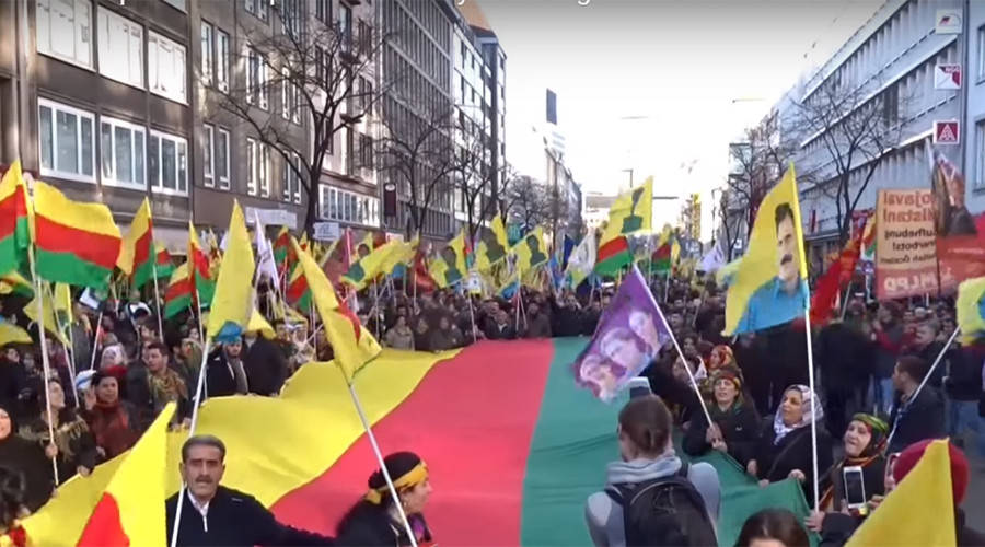 Thousands in Germany protest Turkish crackdown on Kurds (VIDEO)