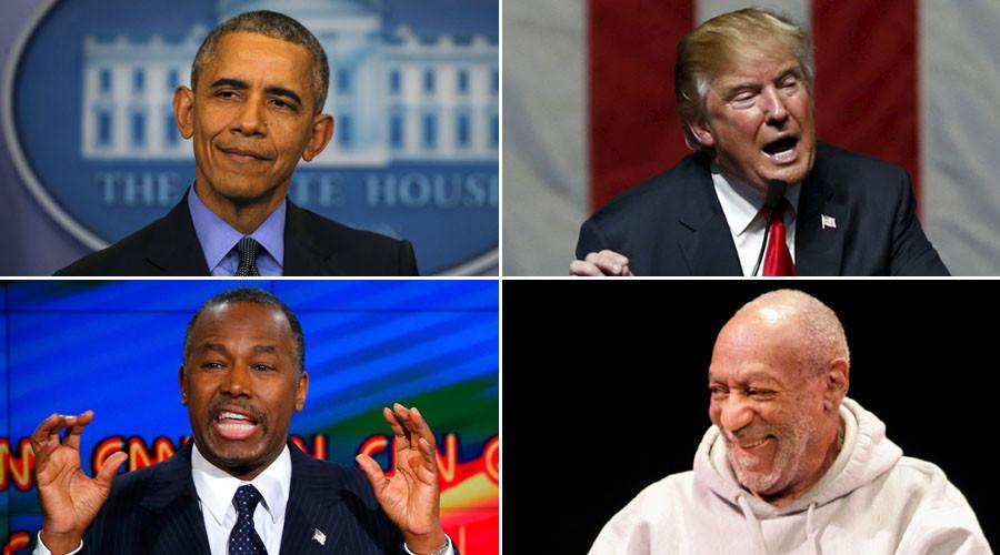 U.S. President Barack Obama, U.S. Republican presidential candidate Donald Trump, Republican U.S. presidential candidate Dr. Ben Carson, Comedian Bill Cosby. ©Reuters