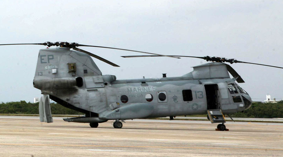 Okinawa man fined $4,000 for pointing laser at US Marines chopper flying over his home