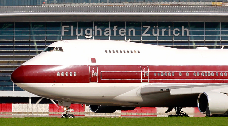 Qatari ex-emir's broken leg sees 9 'emergency' landings in Zurich despite night flight ban