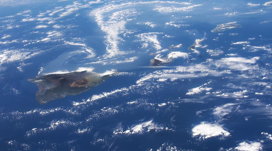 Volcanoes, Vog, and Vortices, Hawaii. © NASA