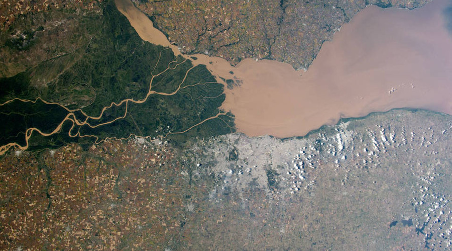 Good Air and Brown Water, Argentina. © NASA