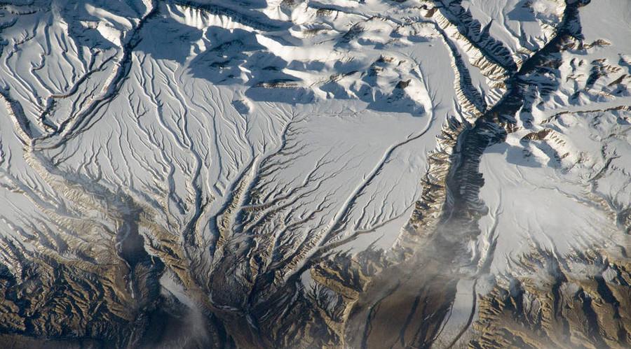 Rivers and Snow in the Himalayas, China and India. © NASA