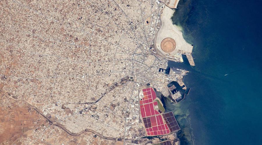 The Port of Sfax, Tunisia. © NASA