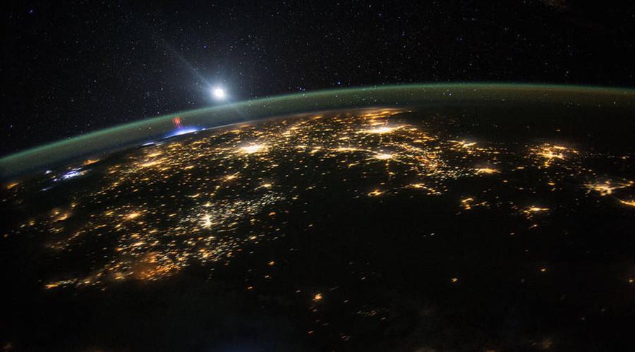 Red Sprites, northwest Mexico. © NASA