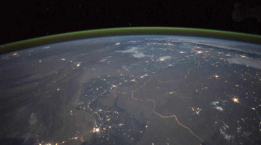India-Pakistan Border at Night. © NASA