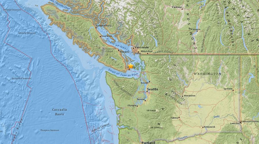 4.9 quake hits near Victoria, Canada; shaking felt in Seattle