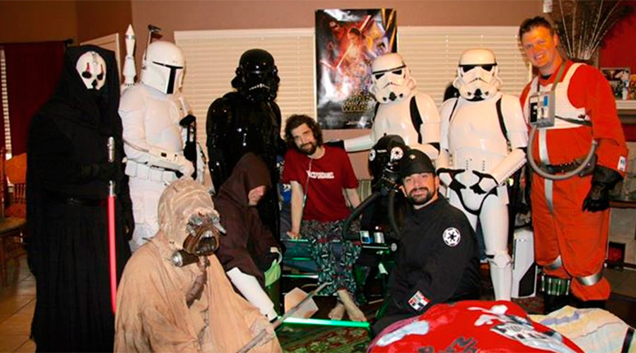 Daniel Fleetwood and members of the local Imperial costuming organization at his home © The Star Garrison of the 501st Legion/Marshall Conover