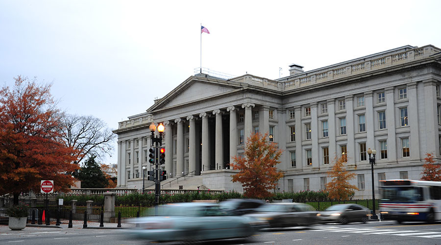US Treasury Building in Washington, DC. © Karen Bleier