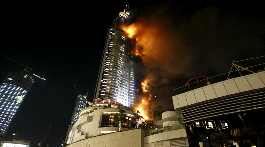 Inferno at 63 story luxury hotel in dubai near new year s for New hotels in dubai 2016