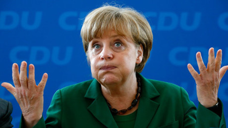 German Chancellor  Angela Merkel © Str