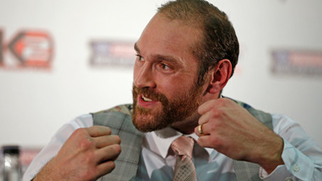 Tyson Fury during the press conference © Andrew Couldridge
