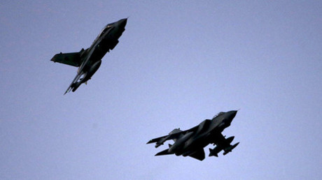RAF Tornados fly above RAF Akrotiri in southern Cyprus December 3, 2015. ©Darren Staples