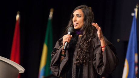 Valarie Kaur, MSNBC commentator, activist with groundswell or Delta Airlines ©  Valarie Kaur