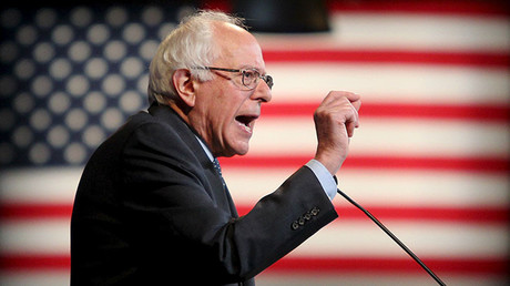 U.S. Democratic presidential candidate and U.S. Senator Bernie Sanders. ©Mary Schwalm