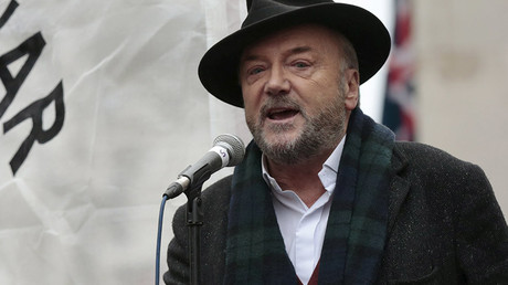 Anti-war activist and former British member of parliament George Galloway. © Suzanne Plunkett