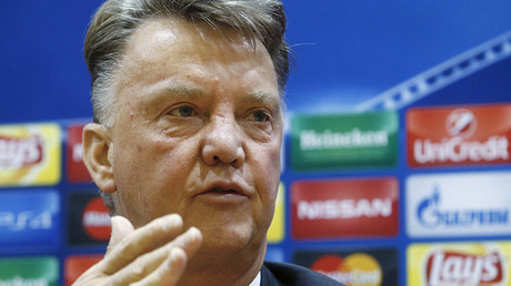 Manchester United's coach Louis van Gaal. ©Sergei Karpukhin