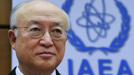 International Atomic Energy Agency (IAEA) Director General Yukiya Amano waits for the start of a board of governors meeting at the IAEA headquarters in Vienna, Austria, December 15, 2015. ©Heinz-Peter Bader