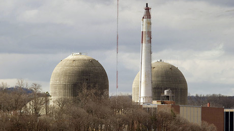 The Indian Point Nuclear Power Plant on the banks of the Hudson River in Buchanan, NY. ©Don Emmert
