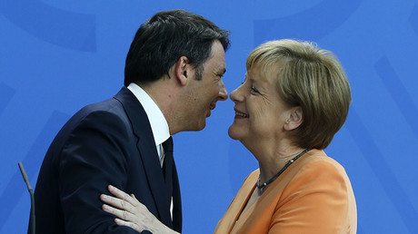 German Chancelor Angela Merkel and Italy's Prime Minister Matteo Renzi ©Fabrizio Bensch