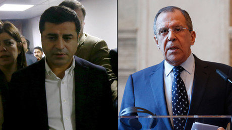 A combination photo shows Selahattin Demirtas, co-chairman of the pro-Kurdish Peoples' Democratic Party (HDP) and Russian Foreign Minister Sergei Lavrov. © Reuters
