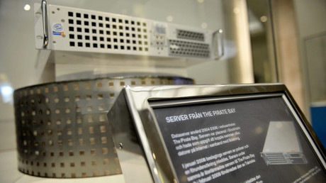 Pirate Bay's first server is displayed at the Technical Museum in Stockholm April 16, 2009. © Jessica Gow